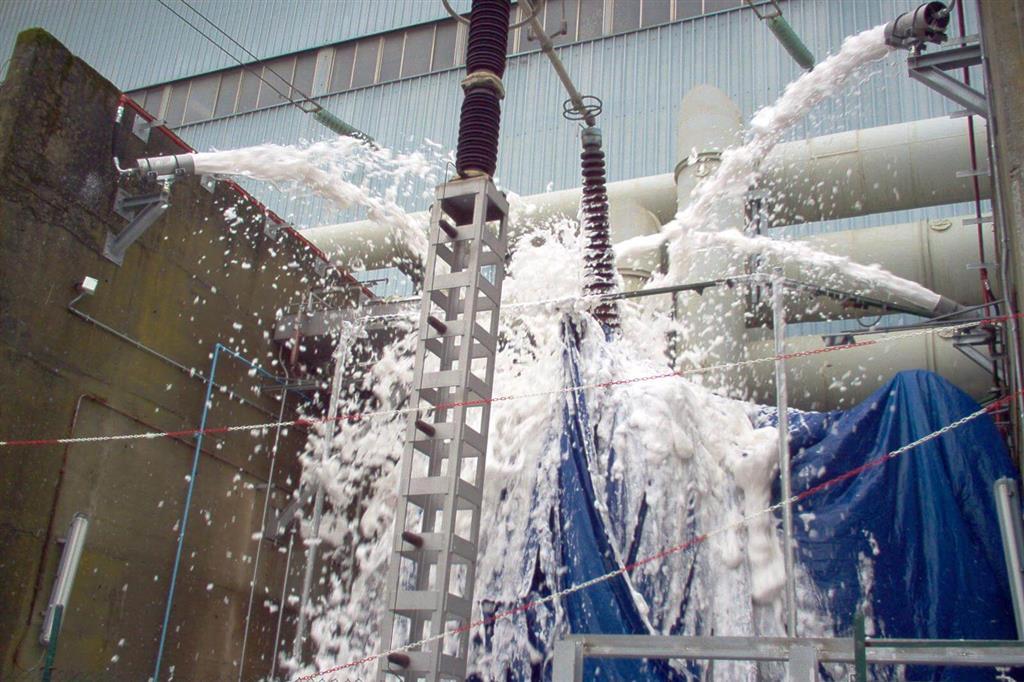 Extinción automática por espuma