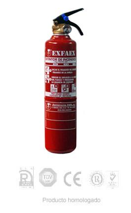 Extintores de polvo 1KG ABC